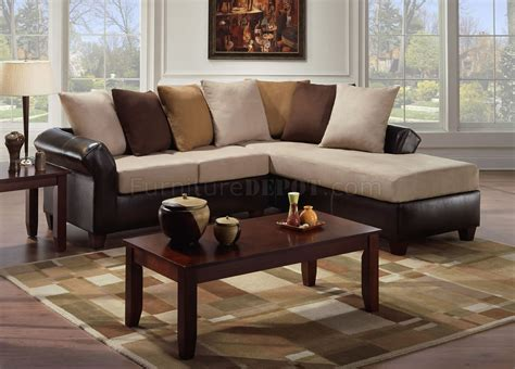 microfiber sectional sofas multi tone combo microfiber sectional sofa w optional ottoman