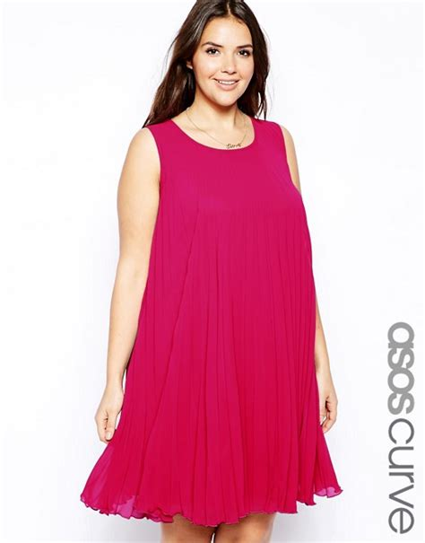 asos curve swing dress asos curve asos curve exclusive pleated swing dress