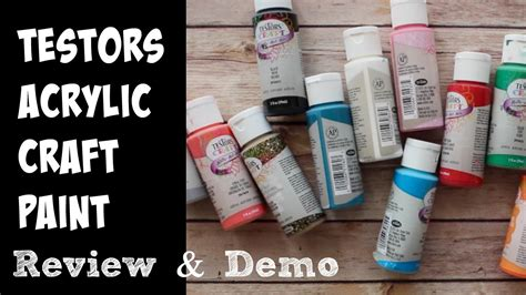 testors acrylic paints review  demo youtube