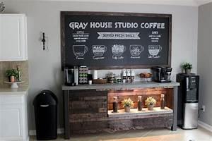 DIY Coffee Bar Gray House Studio