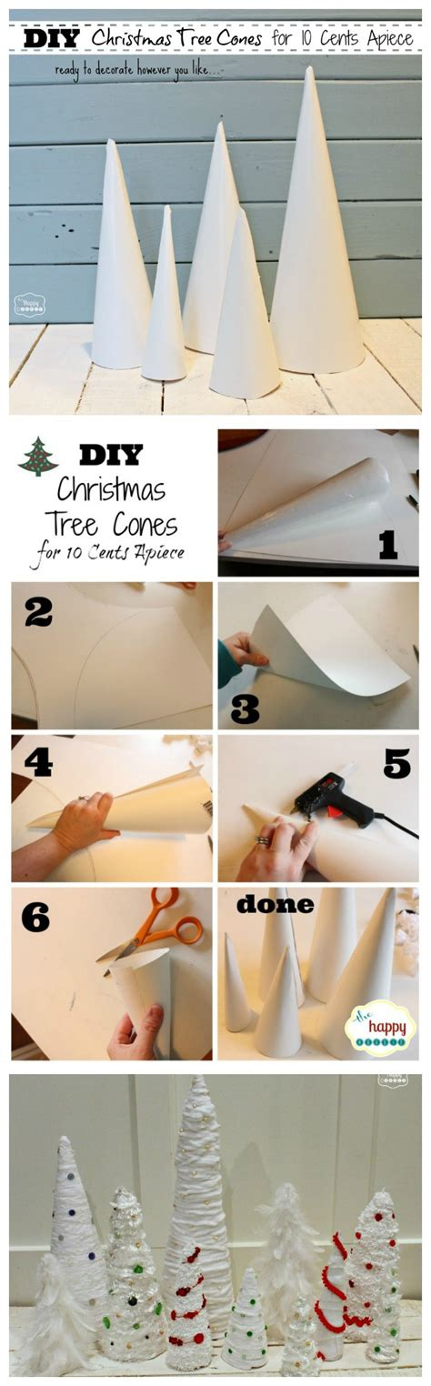 how to make christmas tree cone craft forms for 10 cents apiece the happy housie