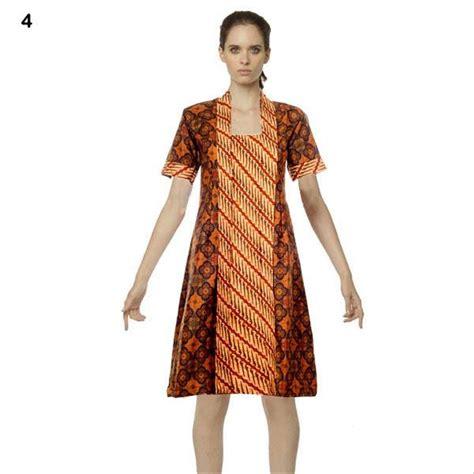 jual dress batik baju kerja motif sogan nastiti katun