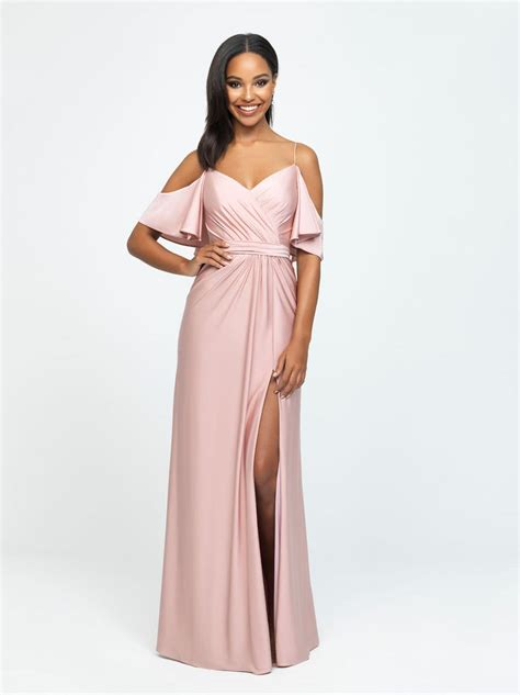 size  blush allure  flutter sleeve bridesmaid dress