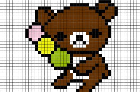 Bear Chef Pixel Art Poster