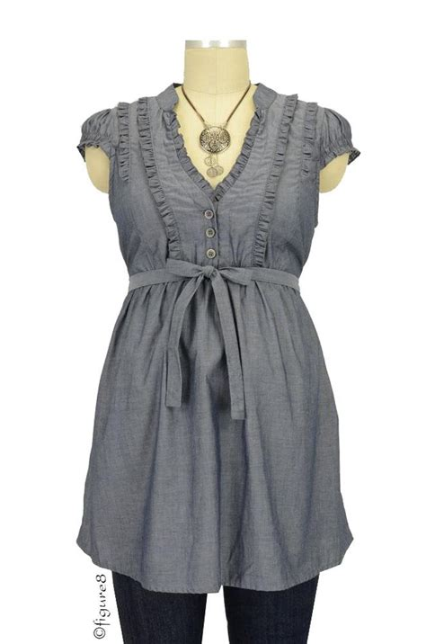 maternity blouses hadley maternity blouse in chambray by nom with free shipping