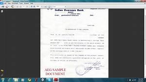 Bank Statement for US universities - Sample