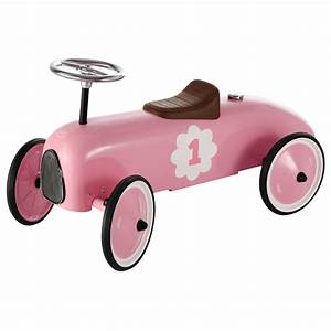 Retro Bebe Voiture : porteur voiture en m tal rose l 76 cm vintage maisons du ~ Teatrodelosmanantiales.com Idées de Décoration