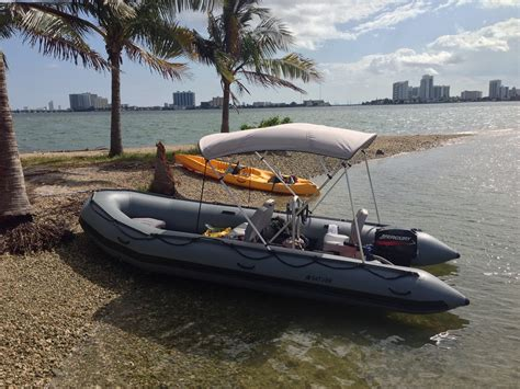 Fishing Off An Inflatable Boat by The 18 Foot Option Inflatable Boats And A Day On The