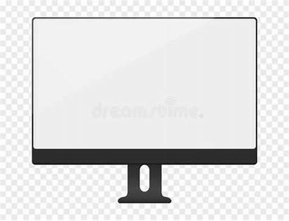 Computer Screen Mockup Blank Desktop Bianco Monitor