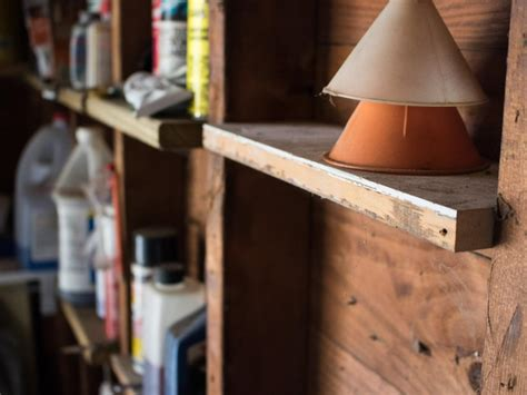 Garage Shelving Between Studs by Great Tips For Garage Organization Diy Network