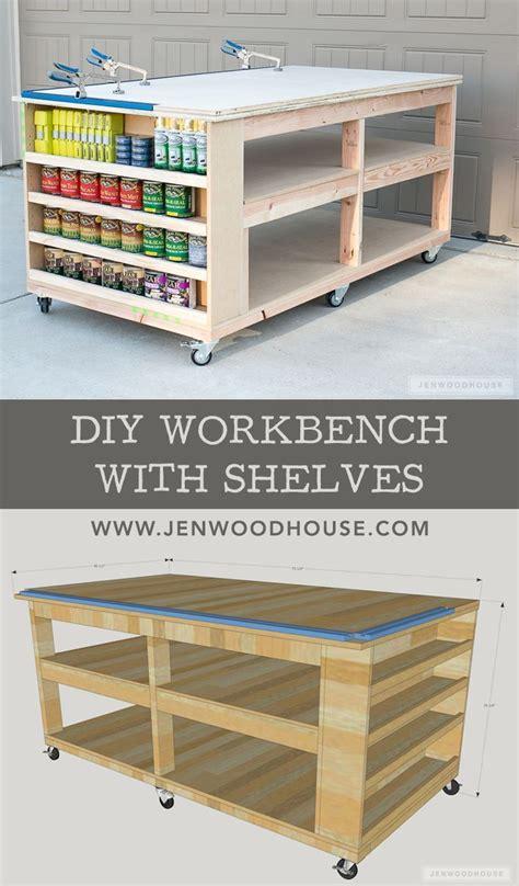 workbench  shelves diy furniture plans diy