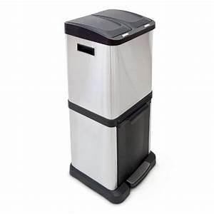 Poubelle Tri Selectif 2 Bacs : poubelle tri selectif 2 bacs pas cher ~ Dailycaller-alerts.com Idées de Décoration