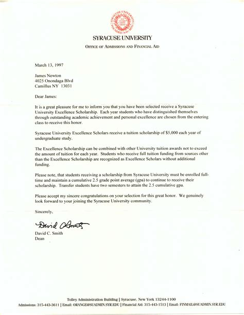 college application letter college