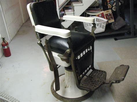 vintage barber chair emil j paidar la grange il patch