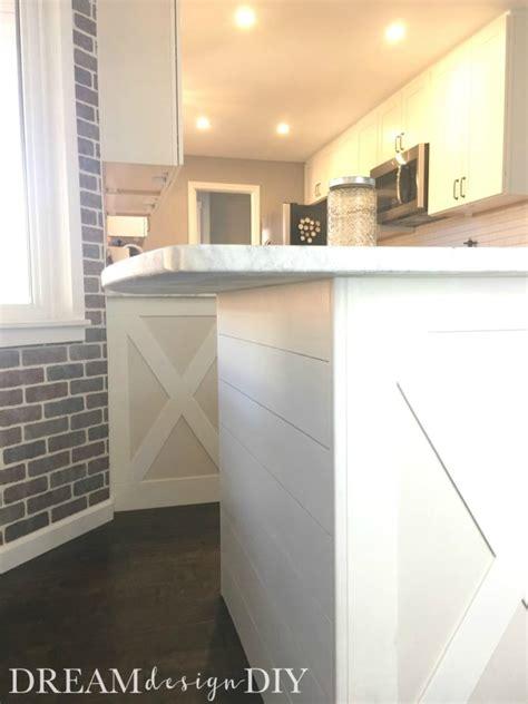 add shiplap   kitchen island easy budget