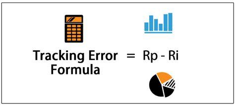 tracking error formula step  step calculation