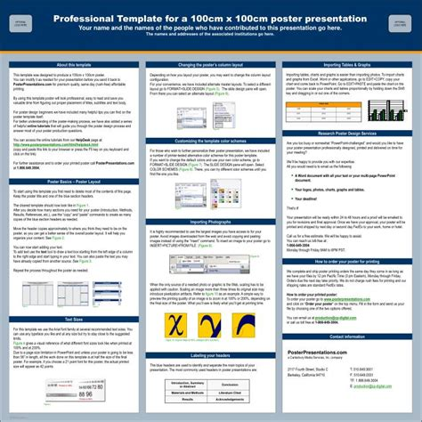 Poster Template Powerpoint 2010