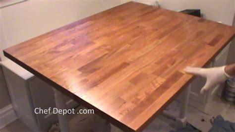 kitchen island table refinish butcher block