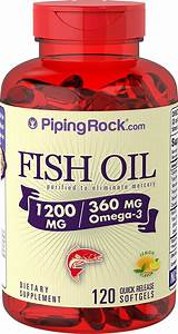 Piping Rock Fish Oil 1200 Mg W  360 Mg Of Omega3 120 Capsules Dietary Supplement 840994102782