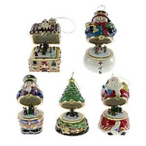 Qvc Christmas Tree Ornaments by Mr Christmas Set Of 5 Musical Box Ornaments Series 1