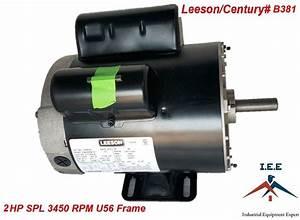 2 Hp 3450 Rpm Air Compressor Electric Motor 115  230 Volts