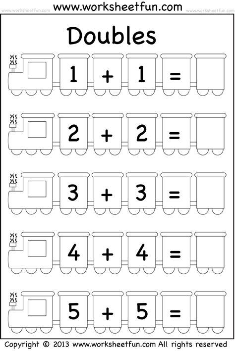 addition doubles  worksheet  printable worksheets