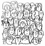 Coloring Crowd Supercoloring Credit Larger sketch template