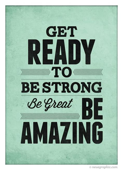 Inspirational Quote Wall Decor  Get Ready To Be Strong Be Great Be A…