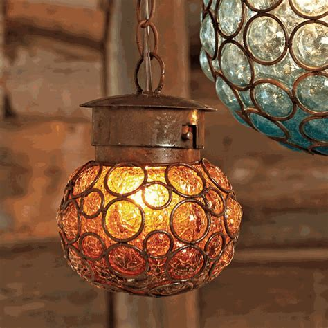 Southwest Glass Sphere Pendant Light   Small