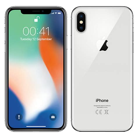 iphone x 256gb apple iphone x 256gb silver kickmobiles 174