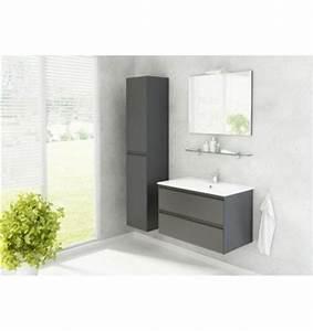 Meuble Salle De Bain Bois Gris : ensemble de salle de bain guadix gris 80cm meuble salle ~ Edinachiropracticcenter.com Idées de Décoration