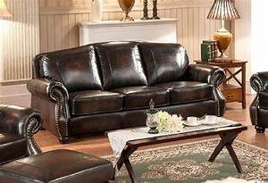 hyde 100 full leather sofa brass nailhead trim o usa With nailhead trim leather reclining sectional sofa with full sleeper