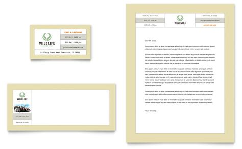 nature wildlife conservation business card letterhead