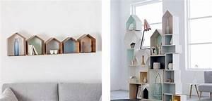 Etagere Murale Maison : d co des tag res maison en bois bien dans mes baskets ~ Teatrodelosmanantiales.com Idées de Décoration