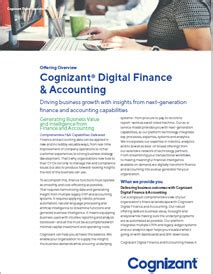 digital finance and accounting solutions cognizant