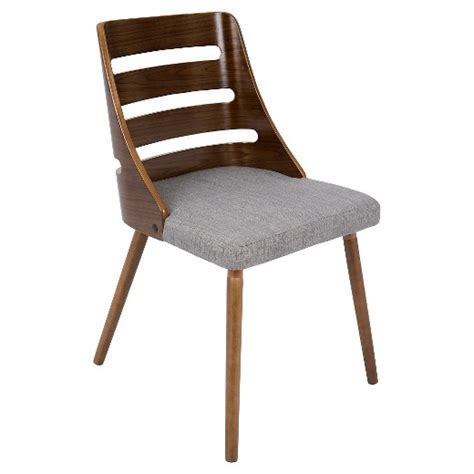 trevi mid century modern dining chair gray lumisource