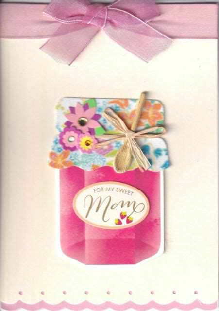 papyrus happy mothers day card jam jar  cloth lid