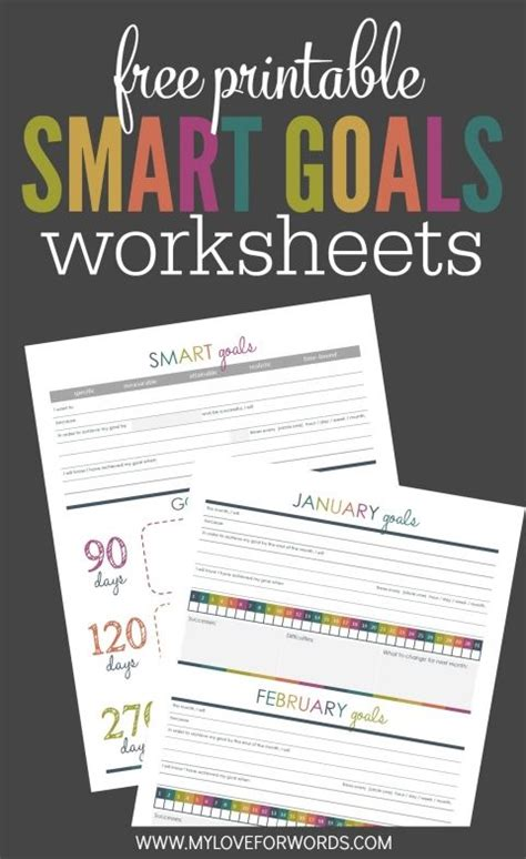 creating smart goals   printables