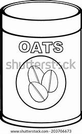 Oat Coloring Template Meal Oats Vector Pages Bottle Sketch sketch template