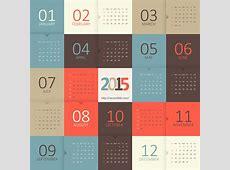Calendar 2015 vector template 2 Vecto2000com