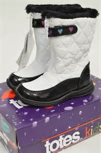 Black and White Totes Snow Boots
