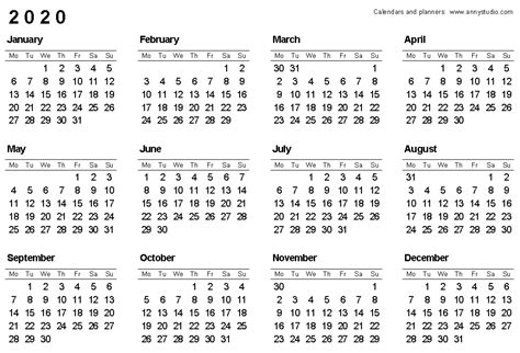 calendar week numbers uk