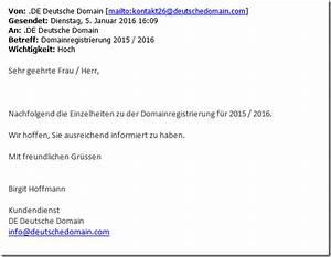 De Deutsche Domain Rechnung : erneuter betrugsversuch mit gef lschter rechnung f r eine domainregistrierung mimikama ~ Themetempest.com Abrechnung