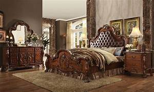 Acme 23140Q Dresden Bedroom Set In Cherry Dallas