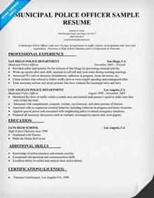 officer description for resume officer resume sle
