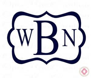Baby Nursery Borders by Three Initial Monogram Decal Block Style Font With