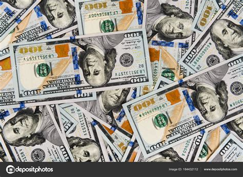 colorful money closeup pile one hundred dollar bills colorful money