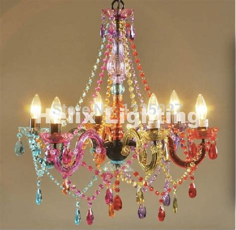ship art deco colorful chandelier mixed colorpink