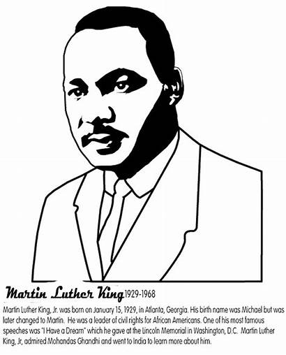 Luther Martin King Coloring Jr Pages Worksheet