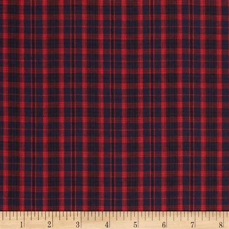 tartan plaid navy discount designer fabric fabric